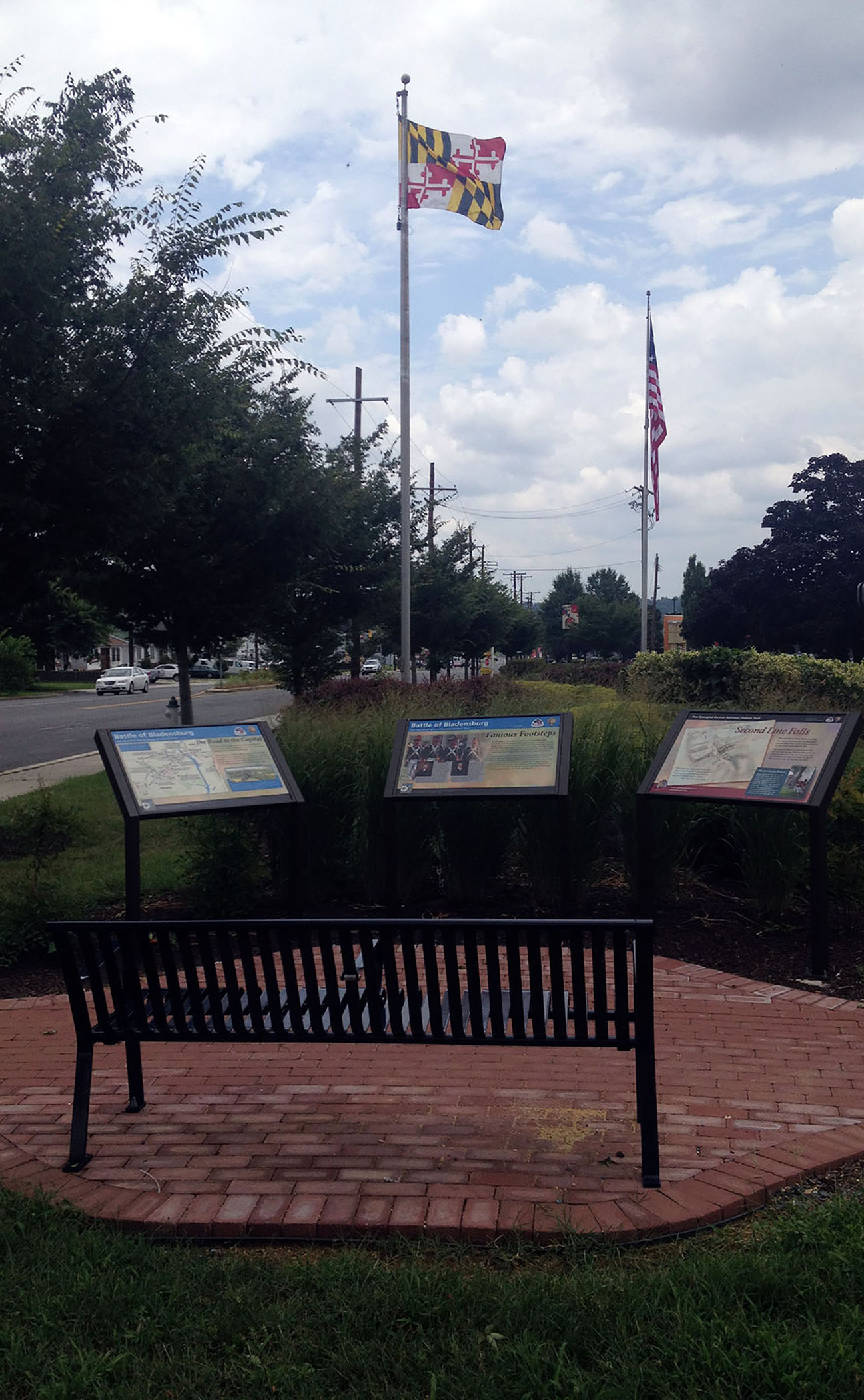 These three waysides were designed for a pocket park to commemorate the War of 1812.